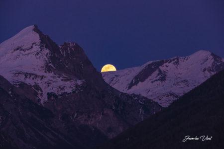 lever de lune haute maurienne vanoise savoie mont blanc